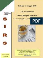 Atti Seminario Alcol Droga