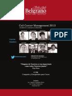 Resumen Ejecutivo Call Center Management Encuentro 2013