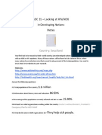hiv aids country notes template