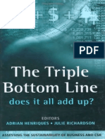 2004 Henriques and Richardson - Triple Bottom Line - Assessing the Sustainability of Business and CSR