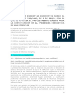 PREGUNTAS Y RESPUESTAS CERTIFICACION EFICIENCIA ENERGÉTICA