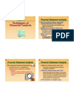 Week 13 Techniques of Financial Analysis (Lecture Note)