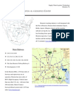 Houston as a Logistics Center