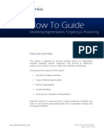 Positioning, Segmentation and Target Marketing