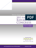 Taxpayer Advocate's 2013 Annual Report to Congress, executive summary