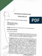 Resolución de la 1ra Sala Civil de Lima sobre la apelación a la acción de amparo presentado por Alan García Perez.
