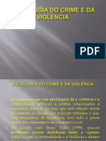 Sociologia do crime e da violência new
