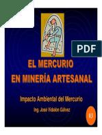 El Mercurio en Mineria Artesanal
