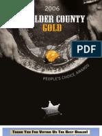Boulder County Gold 2006
