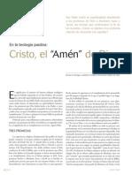 Antonio Bentue, Cristo o el amén de Dios (2009 -Teología Paulina)