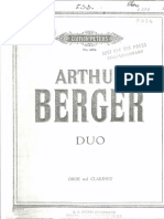 Arthur Berger - Duo for Oboe and Clarinet