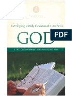 Developing a Daily Devotional time with God