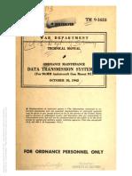Tm 9-1653 Data Transmission System m6, 1942
