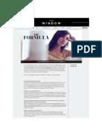 THE fORMULA BLOGGER  Aimee Blaut's beauty secrets