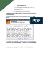 Instalación de java en XP