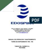 Manual de operación TMI - 700