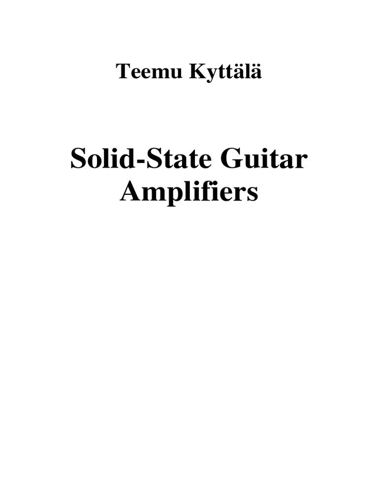 Solid State Guitar Amplifiers Amplifier Electronic Circuits Currentlimit Analogcircuit Basiccircuit Circuit Diagram