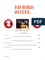 red bird hotel menu