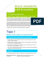 Economics Edexcel as Unit 1 Workbook Answers