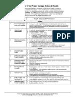 Summary Key Pm Actions