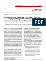 Global Health w1.1 Ecological Public Health