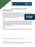 La reforma y las politicas educativas. Su impacto en la supervisión escolar. Anaya L. Nora B. FLACSO México. 2013