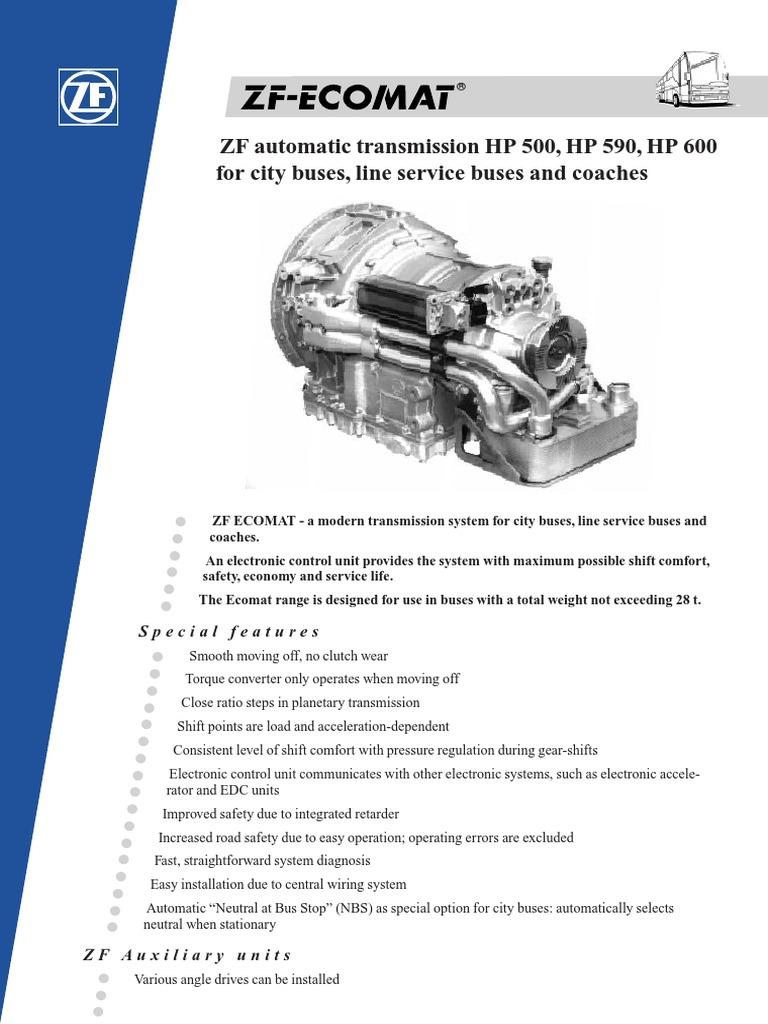 zf ecomat data automatic transmission transmission mechanics rh scribd com
