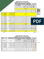 Semester Evaluation Sheet Comp 324