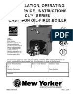 INSTRUCTIONS FOR INSTALL, OPERATION, AND SERVICING_NEW YORKER CL SERIES Cast Iron Oil Fired Boiler Cl