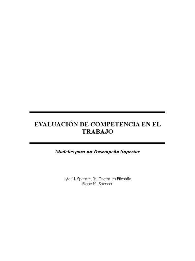Libro Competencias (Spencer)