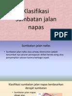 Klasifikasi Sumbatan Jalan Napas
