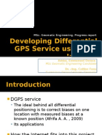 Progress report - Developing a Differential GPS service using the Internet