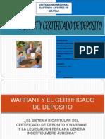 Warrant y El Certificado de Deposito