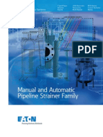 Eaton Manual and Automatic Pipeline Strainer Catalog