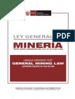 Ley General de Minería Perú - Set. 2012