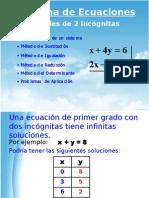 Sistema de Ecuaciones lineales de 2 incógnitas