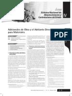 Adicionales de Obra y El Adelanto Directo