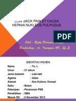 LOW BACK PAIN Et Causa Hernia Nukleus Pulposus