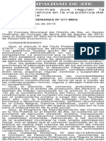 Ordenanza 317_MDA_Municipalidad de Ate