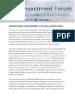 Aspen Investment Forum Overcomes Plane Crash
