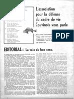 Bulletin d'information de l'Association Vol 1