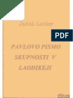 Pismo Apostola Pavla Laokideji
