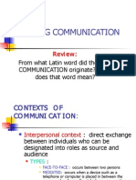 Defining Communication Lecture Part II