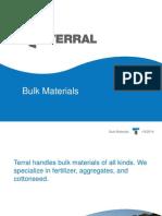Bulk Materials | Terral River Service