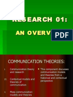 The Research Process and Comm. Theories