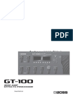 GT-100 Preset Patch List
