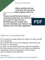 CV WRITTING