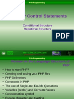PHP Control Statements