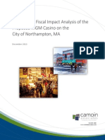 Economic and Fiscal Impact of Proposed MGM Casino on Northampton