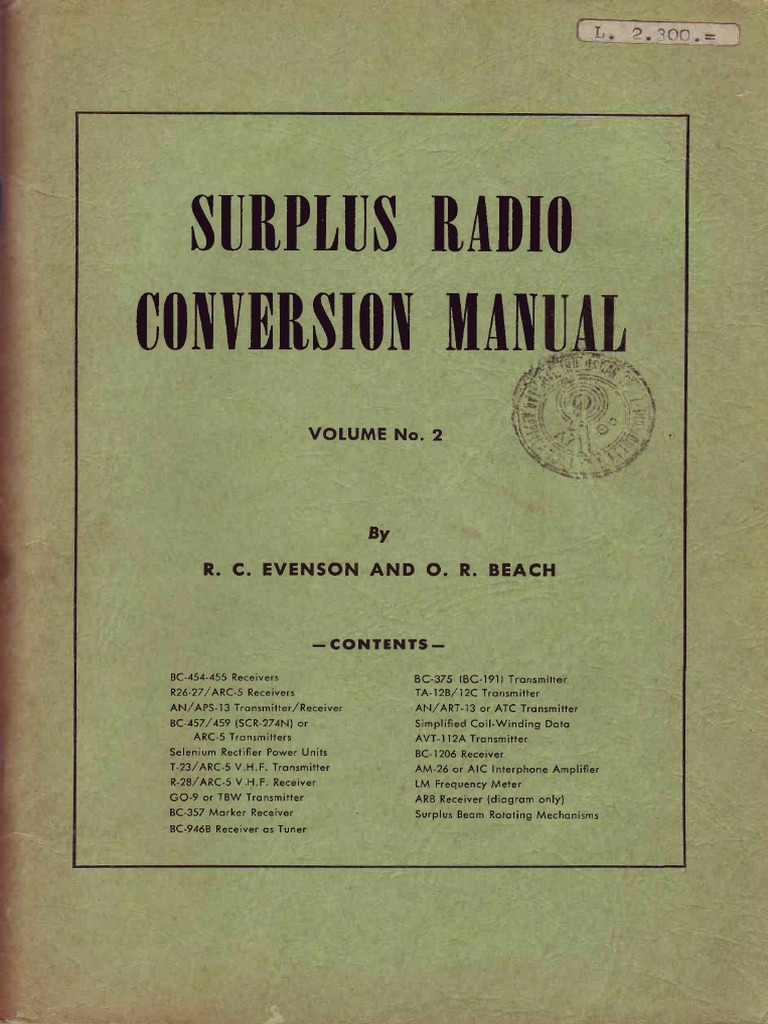 Surplus Radio Conversion Manual Vol2 Inductor Electronic Oscillator Onetube Transmitter Schematic Diagrams And Circuit Descriptions